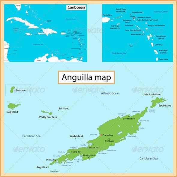 Anguilla Map - Travel Conceptual