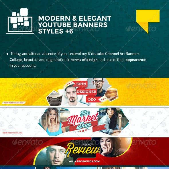 6 Elegant Youtube Banners