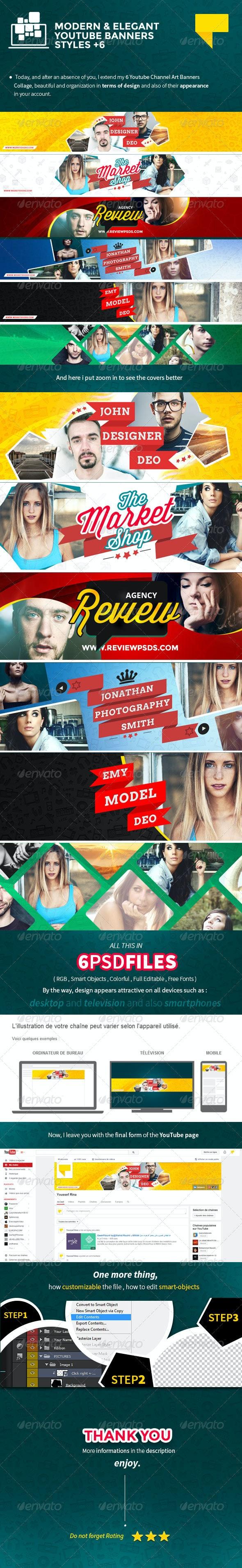 6 Elegant Youtube Banners - YouTube Social Media