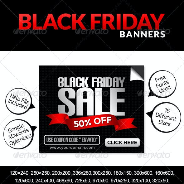 Black Friday Banners - Set I