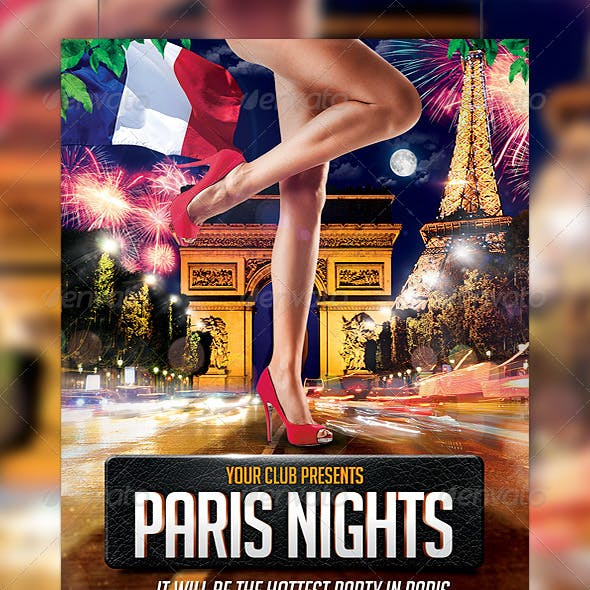Paris Nights Party Flyer Template