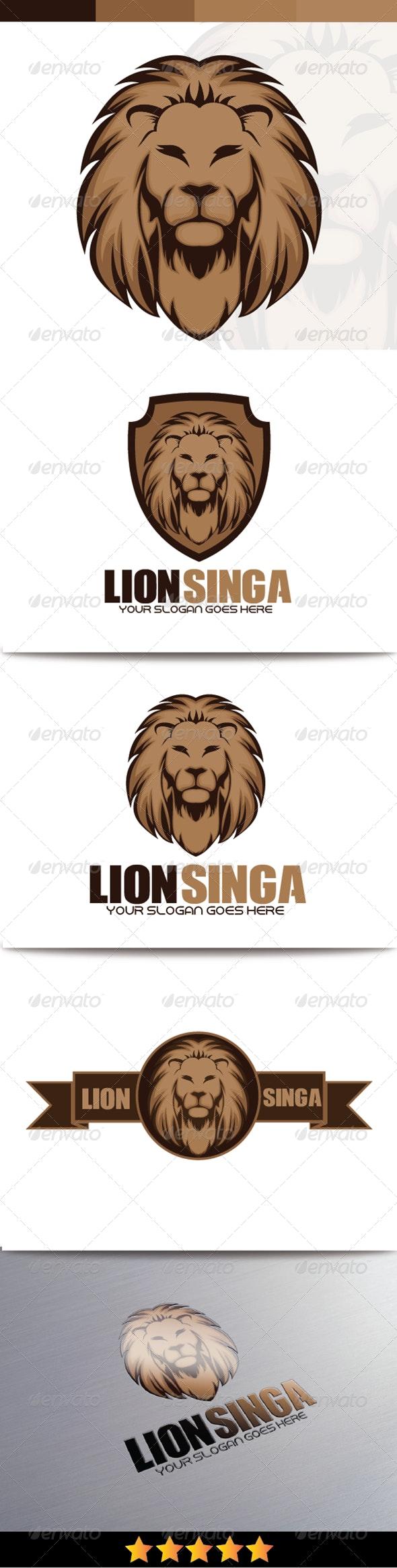 Lion Singo Logo - Animals Logo Templates