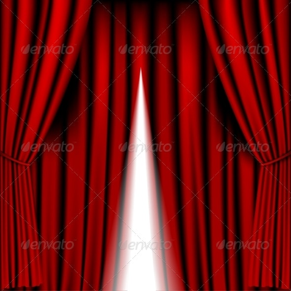 Opening Red Curtain - Backgrounds Decorative