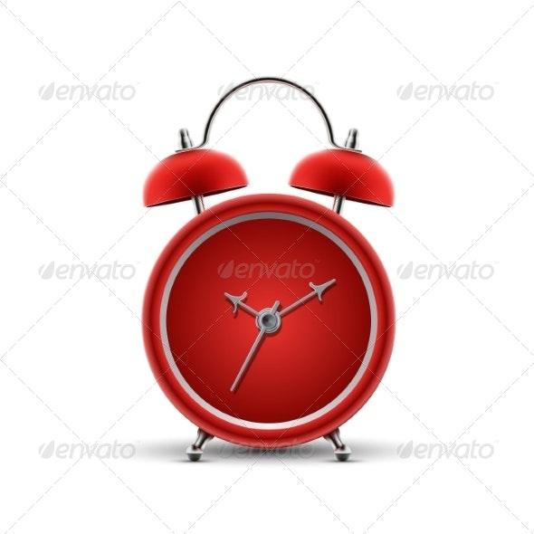 Red Alarm Clock - Miscellaneous Vectors