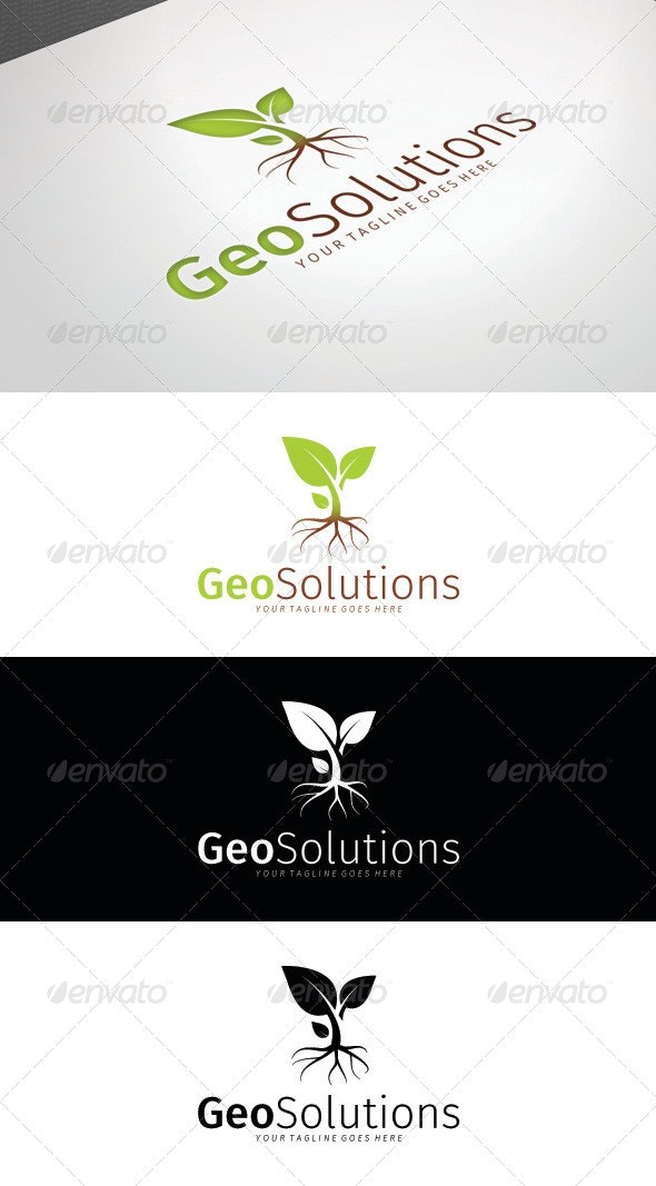 Geo Solutions Logo Template - Nature Logo Templates