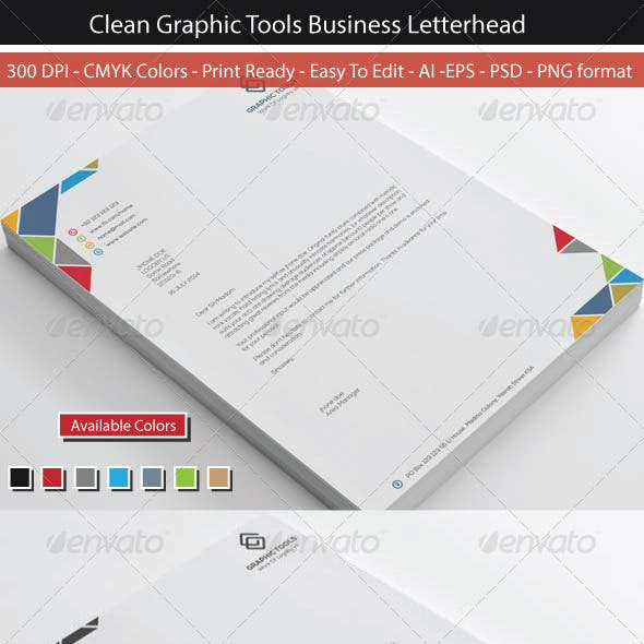 Colorful Graphic Tools Letterhead