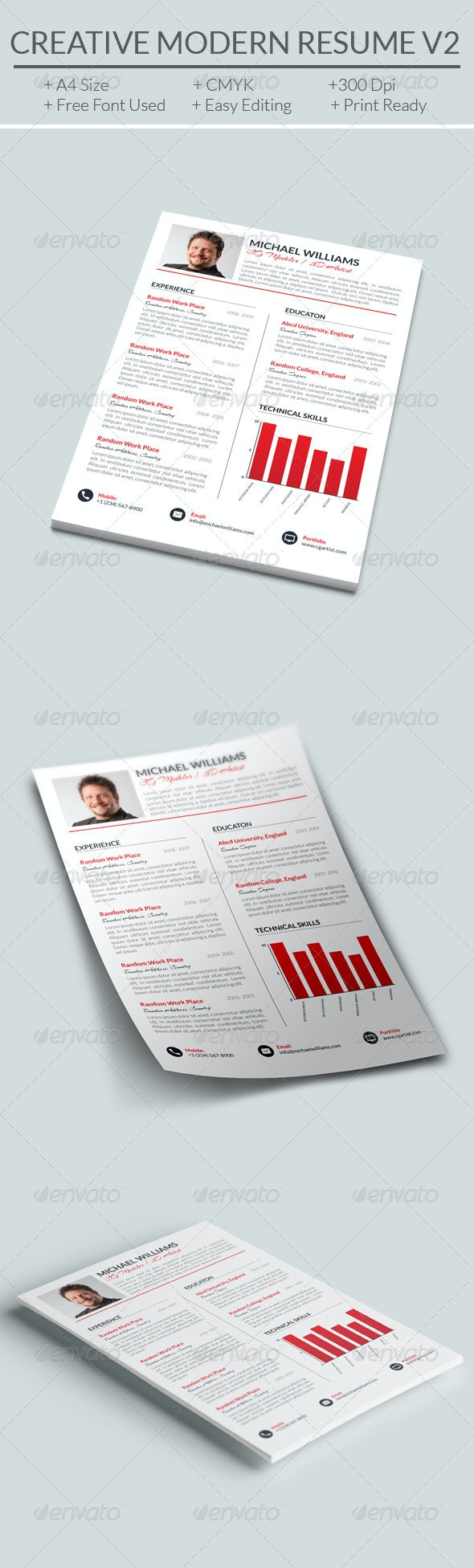 Creative Modern Resume V2 - Resumes Stationery