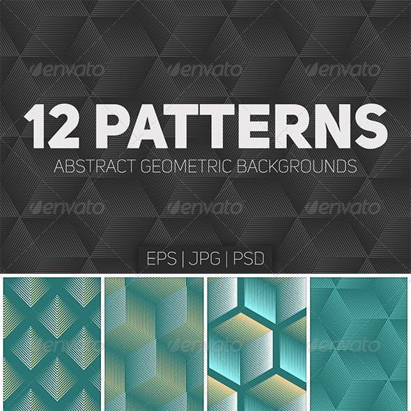 12 Seamless Geometric Patterns