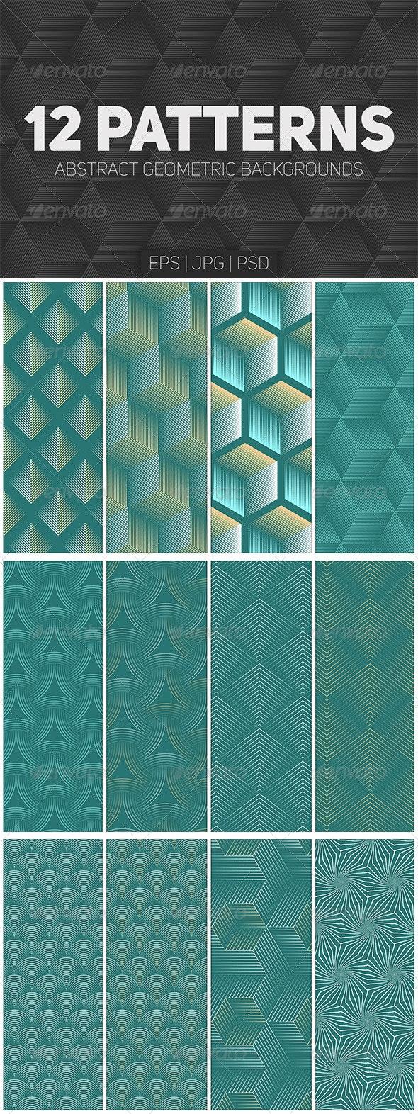 12 Seamless Geometric Patterns - Patterns Decorative