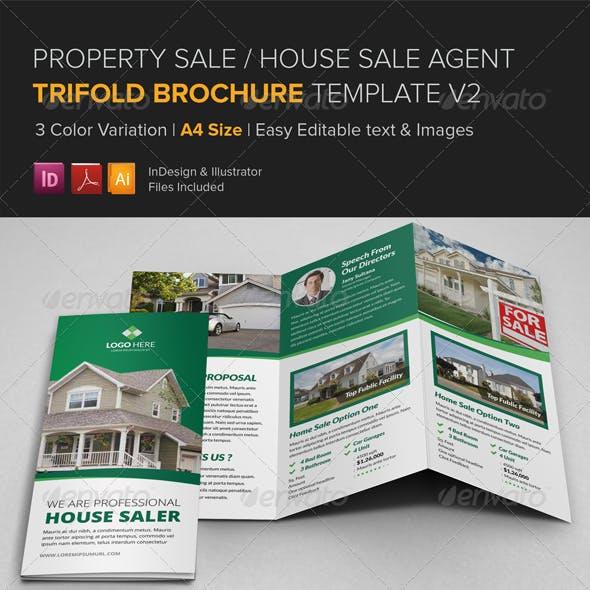 Property Sale Trifold Brochure Template v2