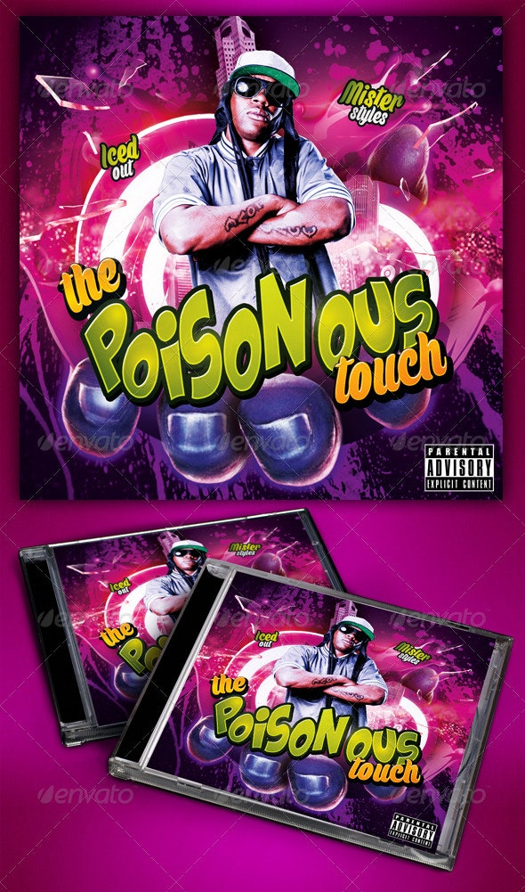 Hip Hop Mixtape  - CD & DVD Artwork Print Templates