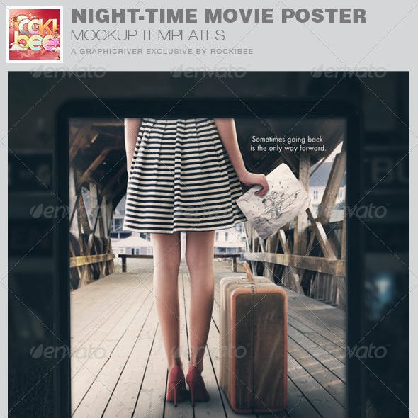 Night-Time Movie Poster Mockup Templates