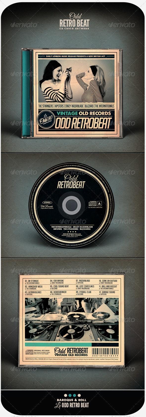 Odd Retro Beat - CD & DVD Artwork Print Templates