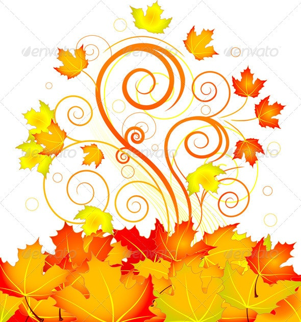 Autumn Swirl - Backgrounds Decorative