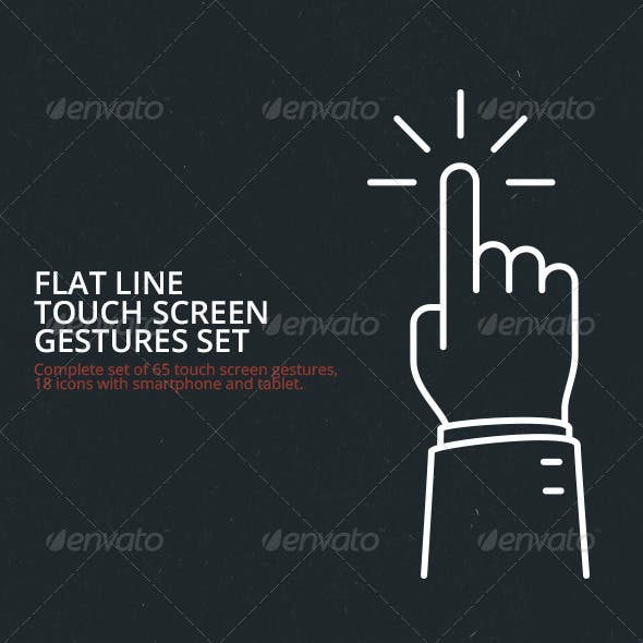 Flat Line Touch Screen Gestures