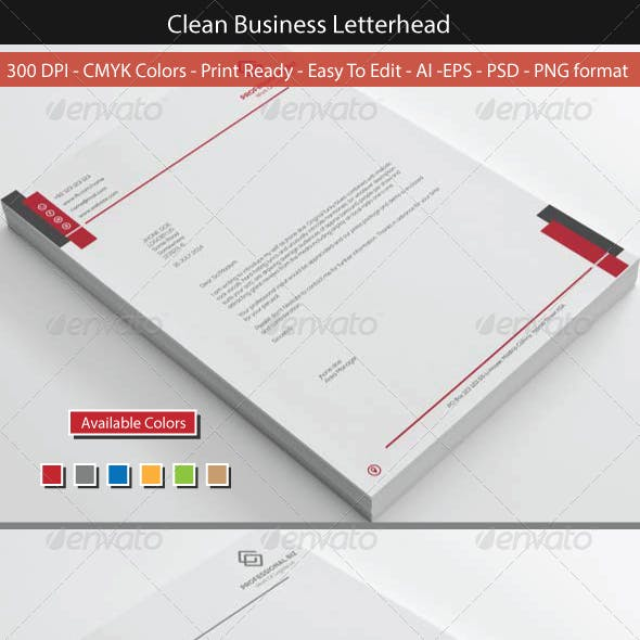Clean Corporate Business Letterhead