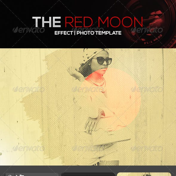 Red Moon Effect Photo Template