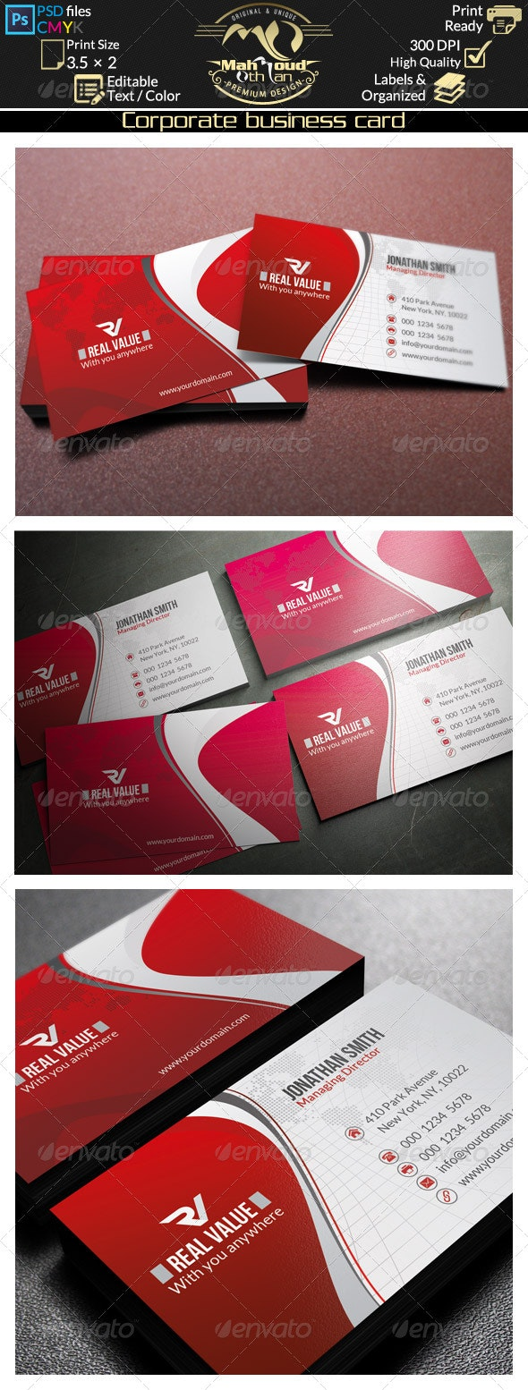 Corporate Business Card 42 - Corporate Business Cards