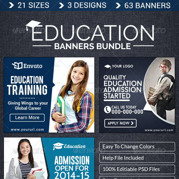 Education Banner Bundle - 3 Sets