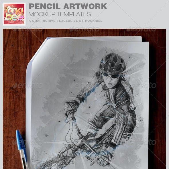 Pencil Artwork Mockup Template