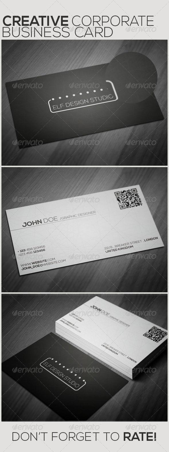 Corporate Creative Business Card - Corporate Business Cards