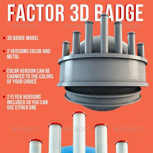 Factor Badge Flyer Template