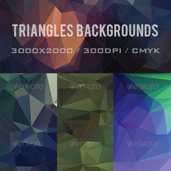 9 Triangles Background