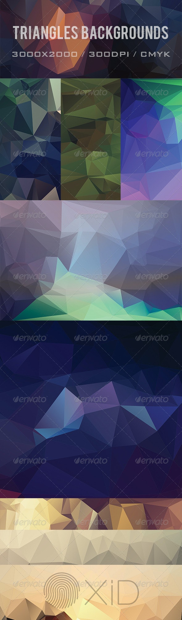 9 Triangles Background - Abstract Backgrounds