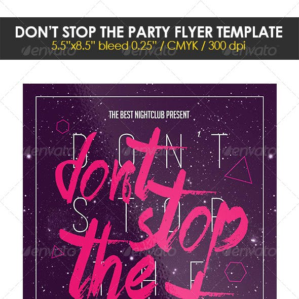 Don't Stop the Party Flyer Template