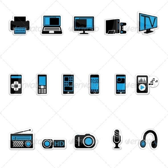 Consumer Electronics Icon - Computers Technology