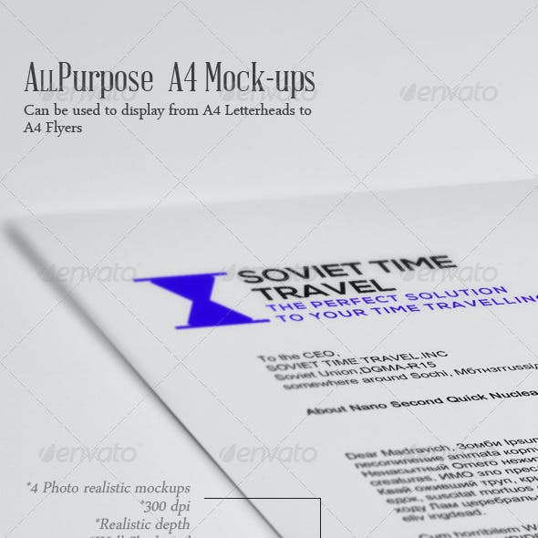 All Purpose A4 Mock-up Vol.2..0