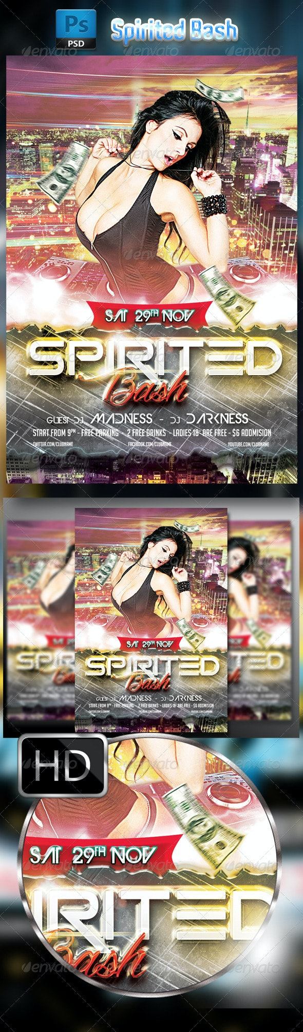 Spirited Party Flyer Template - Clubs & Parties Events
