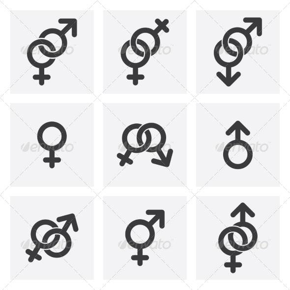 Male Female - Religion Conceptual