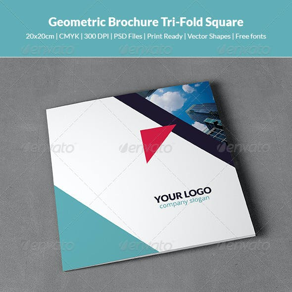 Geometric Brochure Tri-Fold Square