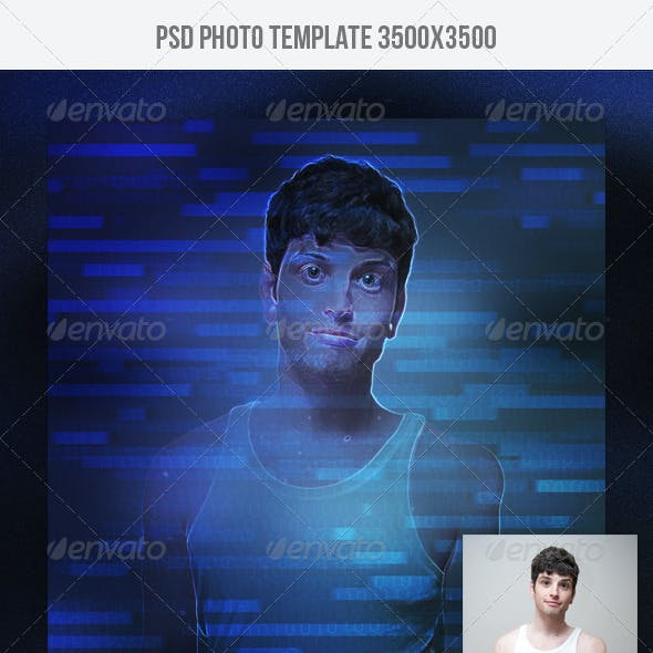 Cyber Photo Template