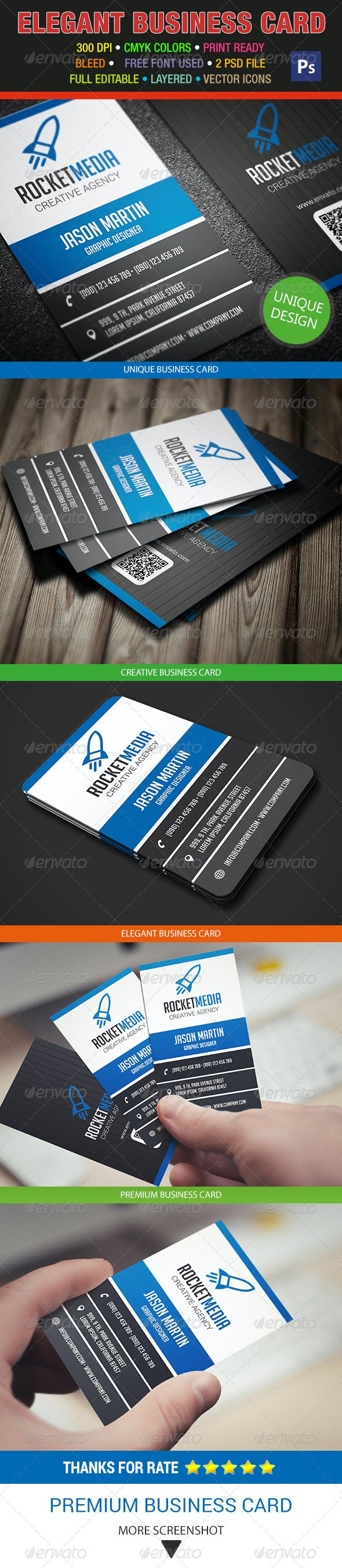 Creative Business Card 297 - Corporate Business Cards