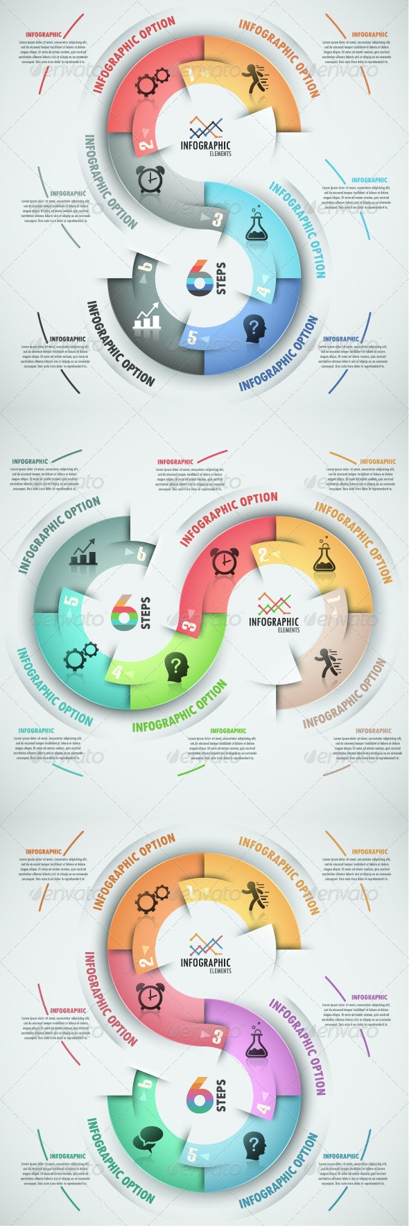 Modern Infographic Process Template (3 Versions) - Infographics