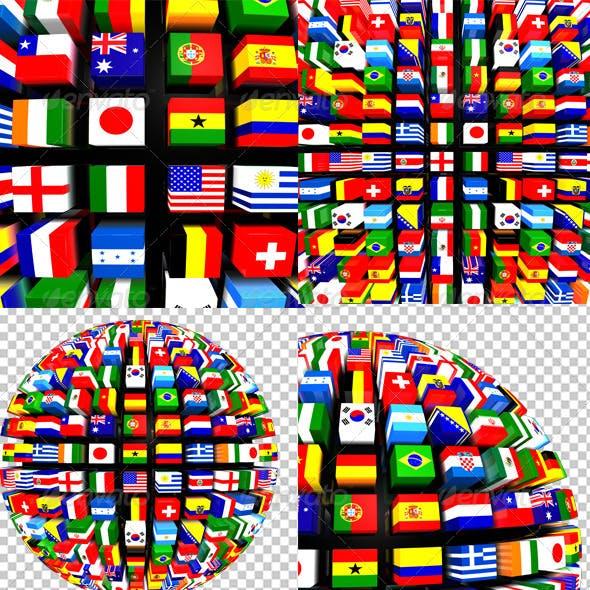 World Flags Globe Pack