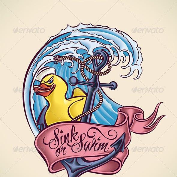 Sink or Swim - Tattoo Design