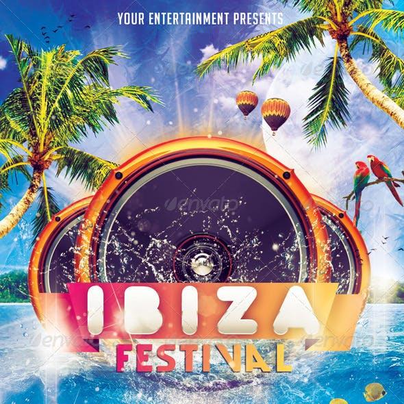 Ibiza Festival Flyer