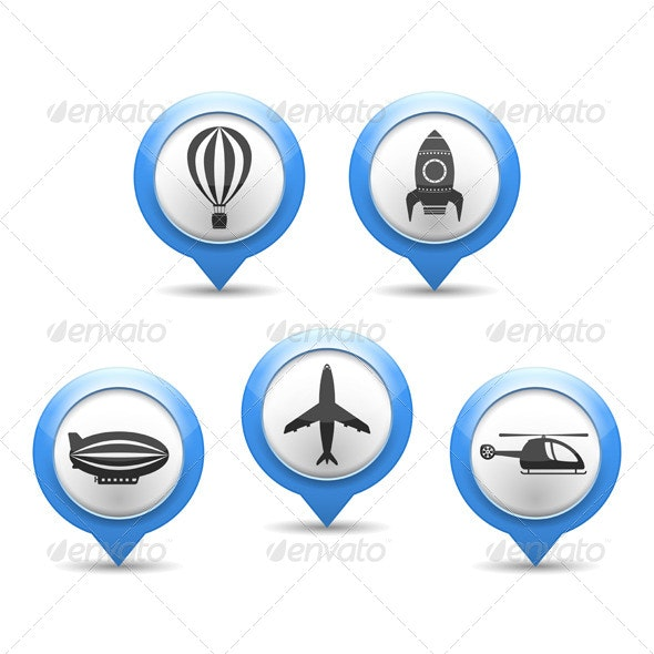 Air Transport Icons - Miscellaneous Vectors