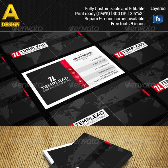 Modern Corporate Business Card AN0478