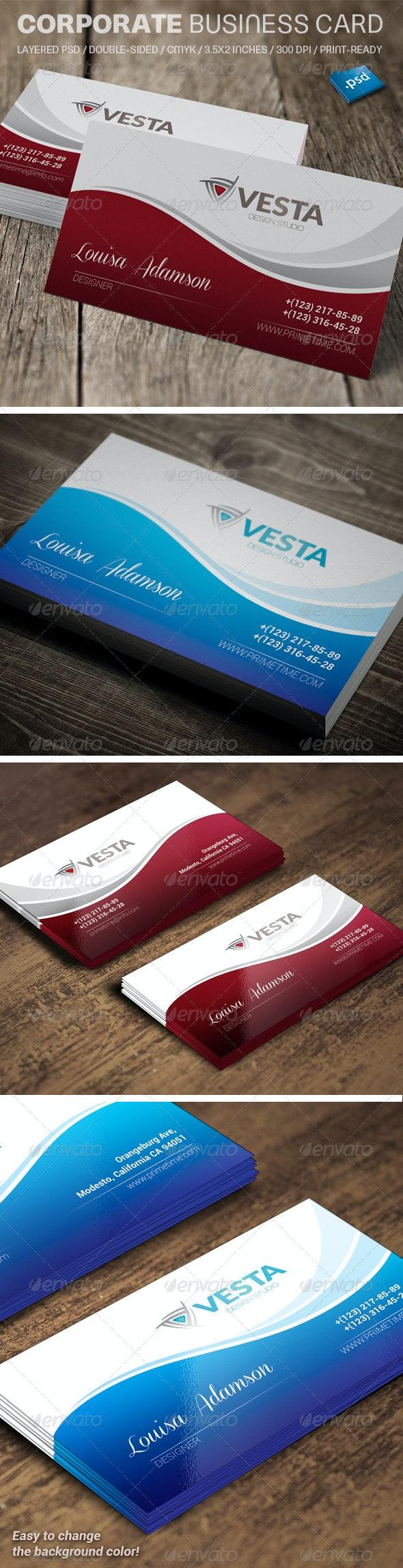 Corporate Business Card V720 - Corporate Business Cards