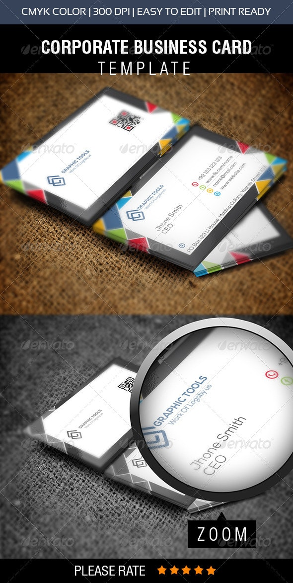 Corporate Graphic Tools Business Card - Business Cards Print Templates
