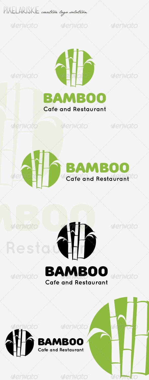 Bamboo Logo - Nature Logo Templates