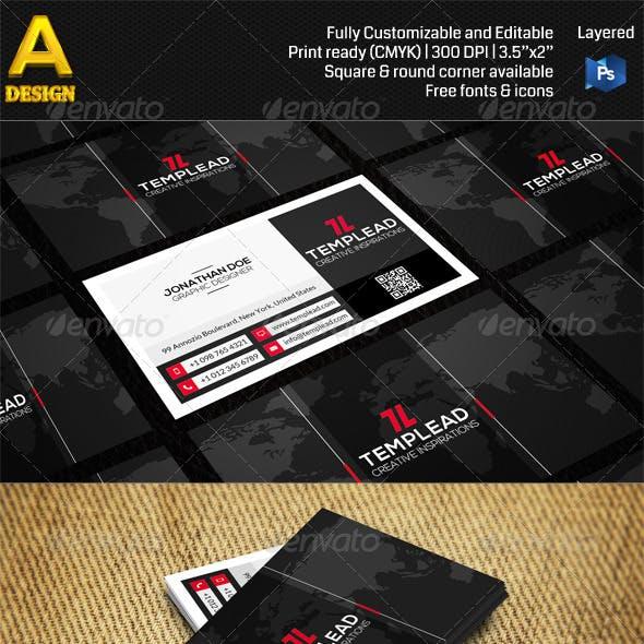 Modern Corporate Business Card AN0479