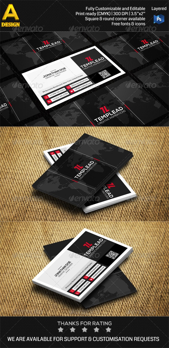 Modern Corporate Business Card AN0479 - Corporate Business Cards