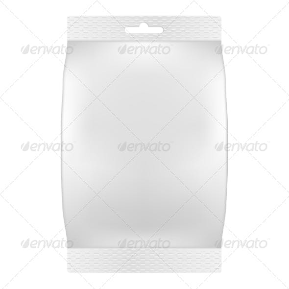 Blank White Bag Packaging for Wipes