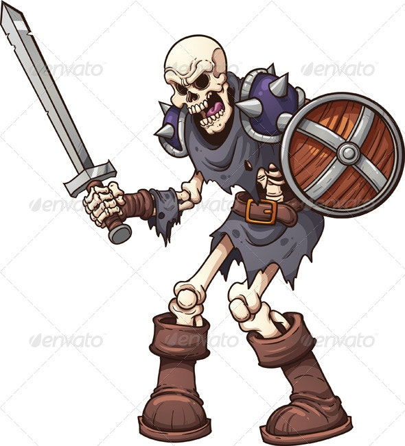 Skeleton Warrior - Characters Vectors