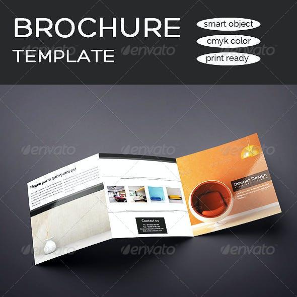 Square Tri-fold Interior Design Brochure